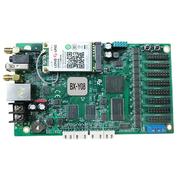 BX-Y08 WIFI Asynchronous full color Video LED controller card comes with 8 Groups HUB75E