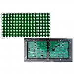 P10 Green monochrome outdoor waterproof dip led display screen modules 320mm*160mm HUB12